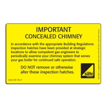 Concealed Chimney - Inspection Hatches label