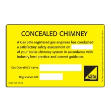 CORGIdirect Concealed Chimney - Inspection label