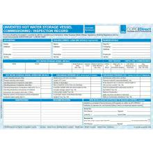 CORGIdirect Domestic Unvented Hot Water Storage Vessel Commissioning/Inspection Record - CP8