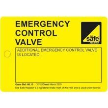 CORGIdirect Emergency Control Valve Tags - WL10