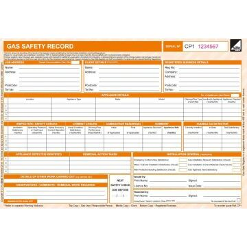 CORGIdirect Gas Safety Record - CP1