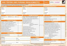 Non Domestic Gas Forms Commercial Gas Forms Safety