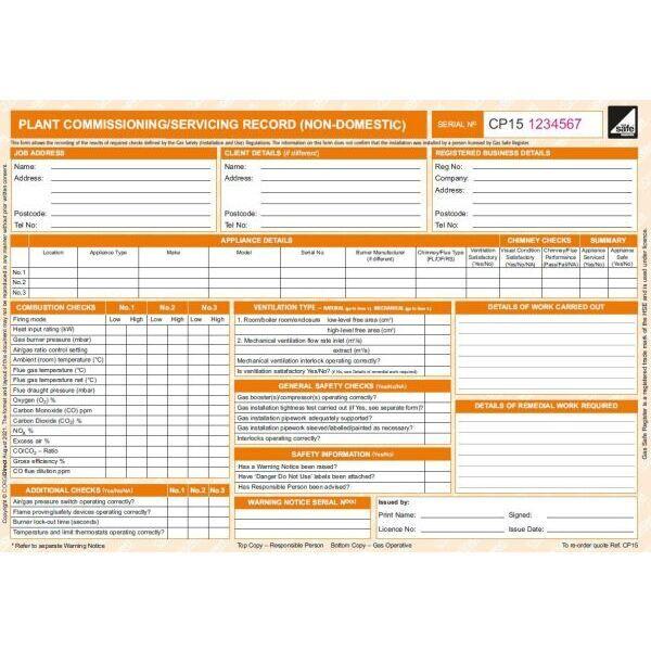 CORGIdirect Plant Commissioning/Servicing Record (Non ...