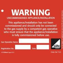 CORGIdirect Tie-on Uncommissioned Appliance Labels/Tags - TG5