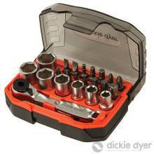"23 Pce 1/4"" Drive Socket & Bit Set"