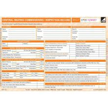 CORGIdirect Central Heating Commissioning/Inspection Record - CP20