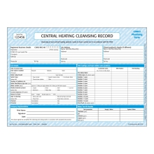 CORGIdirect Central Heating Cleansing Record - CP34
