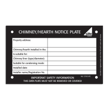 CORGIdirect Chimney/Hearth notice plates - CP3PLATE