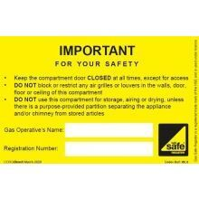CORGIdirect Compartment/Ventilation Label - WL8
