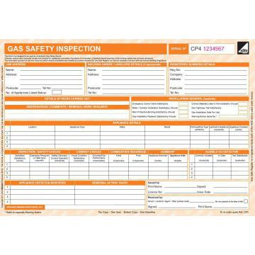 CORGIdirect Gas Safety Inspection Form - CP4