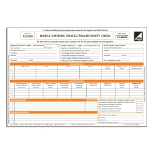 CORGIdirect Mobile Catering Vehicle/Trailer Safety Check Forms - CP44