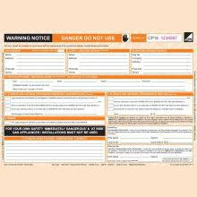 CORGIdirect Warning/Advice Notice - CP14 - New Design