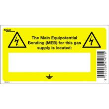 Elec. Main Equipotential Bonding [MEB] Label (8)