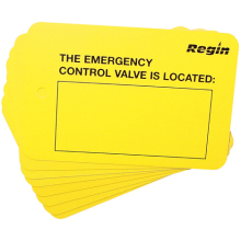 Emergency Control Valve Location Plate (8)