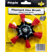 Filament Hex Brush 100mm 6mm spindle