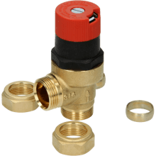 Honeywell Home DU145 Automatic By-Pass Valve 22mm - Angled
