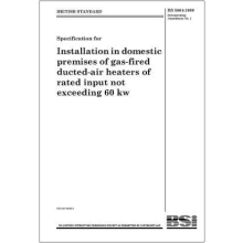 Installation in Domestic Premises of Gas Fired Air Heaters BS 5864:2010