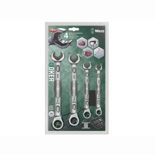 Joker Combination Spanner Sets 10mm, 13mm, 17mm and 19mm