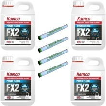 Kamco Power Flush FX2 Liquid & Neutralising Crystals Combi Fourpack