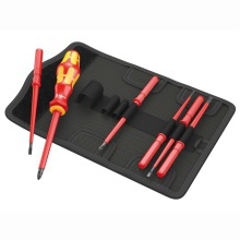 Kraftform VDE Kompakt Interchangeable Screwdriver Set of 7 SL/PZ