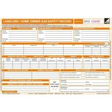 Landlord Gas Safety Pads CP12 (50)