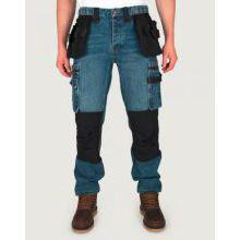P12 STONEWASH DENIM WORK TROUSERS DETACHABLE HOLSTER POCKETS