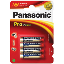Panasonic AAA Alkaline Batteries - Pack of 4