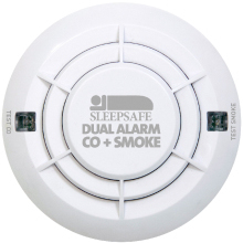 SleepSafe Dual Alarm - CO & Smoke