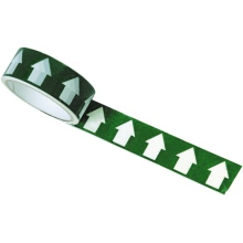 White/Green Arrow Direction Tape - 33m